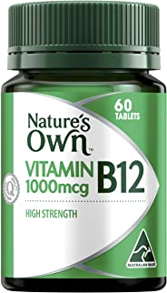 Nature's Own Vitamin B12 1000mcg - 60 Tablets