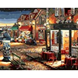 Paint by Numbers-DIY Digital Canvas Oil Painting Adults Kids Paint by Number Kits Home Decorations- Coffee and Flower Shop 16