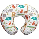 Boppy Nursing Pillow and Positioner—Original | Neutral Jungle Colors with Animals | Breastfeeding, Bottle Feeding, Baby Suppo