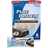 Pure Protein Bars, High Protein, Nutritious Snacks to Support Energy, Low Sugar, Gluten Free, Dark Chocolate Coconut, 1.76oz,