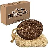 Pumice Stone for Feet - Natural Lava Foot Stone with New Eco-Friendly Holder - Callus Warts Corn Removal - Pedicure Exfoliato