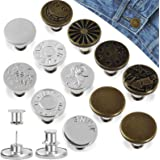 Hianjoo Jeans Button Pins Replacement [ 12 Pcs ], Adjustable Jeans Button Instant can extend or Reduce Any Jean Pants Waist C