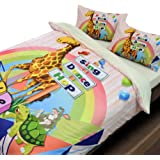 Essina Microfiber Queen Quilt Cover Duvet Cover Doona Cover Set 3pc Bambino Collection, Soft and Lightweight, Giraffe