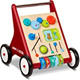 Radio Flyer Classic Push & Play Walker, Toddler Walker with Activity Play, Ages 1-4 , Red
