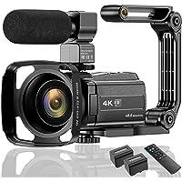 ビデオカメラ ACTITOP デジタルビデオカメラ 4K フルHD 48MP WIFI機能 16倍デジタルズーム 赤外線…