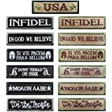 Antrix Bundle 13 Pieces Great Value Tactical Morale Patch Full Embroidery Military Patches Set for Caps,Bags,Backpacks,Tactic