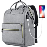 Travel Laptop Backpack for Women 15.6 Inch Stylish College School Backpack with USB Charging Port, RFID Anti Theft Water Resi