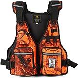 Lixada Fly Fishing Vest,Fishing Safety Life Jacket Breathable Polyester Mesh Design Fishing Vest for Swimming Sailing Boating