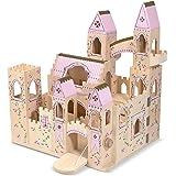 Melissa & Doug Deluxe Wooden Folding Princess Castle