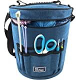 BEST KNITTING BAG FOR YARN STORAGE. Portable, Light and Easy to Carry- enjoy knitting /crocheting anywhere. Pockets for Acces