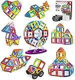 Jasonwell 108pcs マグネットブロック 磁気おもちゃ マグネットおもちゃ 磁石ブロック 子供 知育玩具 幼…