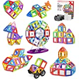 Jasonwell 108pcs マグネットブロック 磁気おもちゃ マグネットおもちゃ 磁石ブロック 子供 知育玩具 幼児 に 人気 の おもちゃ 女の子 おもちゃ 日本語バッケージ 磁石玩具 立体パズル ゲーム モデルDIY 積み木 ブロック おも