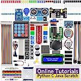 SunFounder Raspberry Pi Starter Kit for Raspberry Pi 4B 3 B+ 400, 537-Page Online Tutorials, Python C Java Scratch Code, 65 P