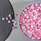 GOGOSO Pink and White Balls for Ball Pit - Pack of 100 Ball Pits Ball Pink, BPA Free Plastic Ball Toys Crush Proof Ocean Ball
