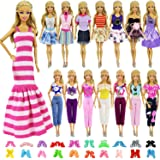 ZITA ELEMENT 5 Sets for 11.5 inch Doll Clothes Mix Shirt & Pants with 5 Pairs of Shoes Accessories for Doll Random Style