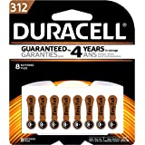 Duracell Easytab Type 312 Hearing Aid Battery, 8 Pack
