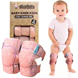 Baby Knee Pads for Crawling (2 Pairs) | Protector for Toddler, Infant, Girl, Boy (Bird)