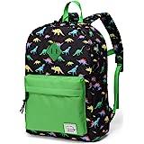 Preschool Backpack,Vaschy Little Kid Backpacks for Boys with Chest Strap Cute Dinosaur.