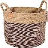 CHICVITA Large Jute Basket Woven Storage Basket with Handles - Natural Jute Laundry Basket Toy Towels Blanket Basket Home Dec