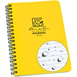 "Rite in the Rain All-Weather Side-Spiral Notebook, 4 5/8"" x 7"", Yellow Cover, Journal Pattern (No. 393)"