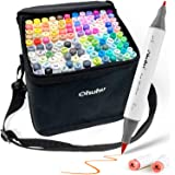 120-Color Alcohol Art Markers Set, Ohuhu Dual Tip, Brush & Fine, Sketch Marker, Alcohol-based Brush Markers, Comes w/ 1 Blend