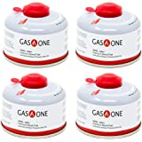GasOne Camping Fuel Blend Isobutane Fuel Canister 100g (4 Pa…