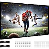 84 inch Projector Screen, 16:9 HD 4K Foldable No Crease Portable Video 80 Projection Movie Screen Grommets for Outdoor Indoor