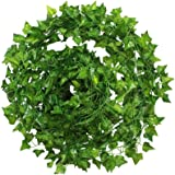 12 Strands Artificial Ivy Garland Flowers Fake Ivy Hanging Vine Plant for Home Garden Decor 84Ft
