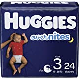 Nighttime Baby Diapers Size 3, 24 Ct, Huggies Overnites