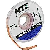 NTE Electronics SW02-10 No-Clean Solder Wick #4 Blue .098 Width 10' Length