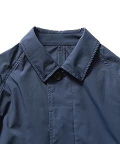 Dicros Balmacaan Coat 51-19-0187-012: Navy