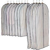 アストロ 洋服カバー マチ付 12枚 スーツサイズ 不織布 ファスナー 透明窓 防虫剤ポケット付き 底までカバー 110…