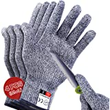 Cutting Gloves Food Grade Level 5 Protection, Upgrade Safety Cut Resistant Gloves for Kitchen, Meat Cutting, Wood Carving, Ma