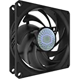 Cooler Master SickleFlow 92 All-Black 92mm Square Frame Fan with Air Balance Curve Blade Design, Sealed Bearing, PWM Control