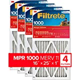Filtrete Micro Allergen Defense AC Furnace Air Filter, MPR 1000, 16 x 25 x 1-Inches, 4-Pack