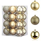 Christmas Decorations,T Tersely 24 Pack 3CM (1.18in) Christmas Balls Ornaments for Xmas Tree - Shatterproof Christmas Tree De