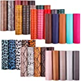 35 Pcs Faux Leather Sheets for Earrings Making, Cridoz 7 Styles Faux Leather Fabric Sheet for Earrings Making, Hair Bow and C