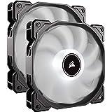 Corsair AF140 LED, 140mm Low Noise Cooling Fan - White LED ( Dual Pack)