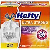 Hefty Ultra Strong Tall Kitchen Trash Bags - Lavender & Sweet Vanilla, 13 Gallon, 110 Count