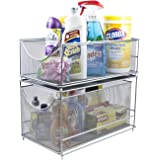 Sorbus Cabinet Organizer Set —Mesh Storage Organizer with Pull Out Drawers—Ideal for Countertop, Cabinet, Pantry, Under The S