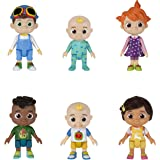 CoComelon Official Friends & Family, 6 Figure Pack - 3 Inch Character Toys - Features Two Baby JJ Figures (Tee and Onesie), T