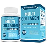 Premium Multi Collagen Peptides (Types I, II, II, V, X) - Collagen Pills for Skin Care, Hair Growth, Nails, Joints & Anti-Agi