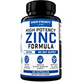 Sheer High Potency Zinc 30mg Capsules - Organic Zinc Supplements with Selenium for Men & Women - Daily Vitamin Supplement for