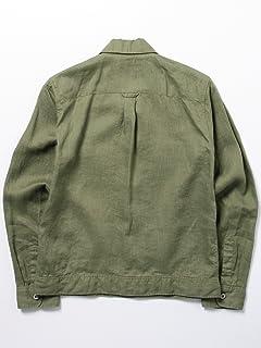 Linen Jean Jacket 11-18-2676-187: Olive