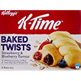 K-Time Kellogg's Baked Twists, 5 Count, Strawberry & Blueberry