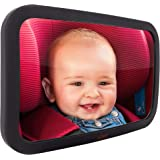 Baby Mirror for Car - Largest and Most Stable Backseat Mirror with Premium Matte Finish - Crystal Clear View of Infant in Rea