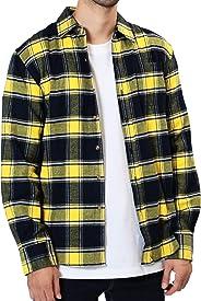 JIGGYS SHOP チェックシャツ メンズ シャツ 長袖 ネルシャツ カジュアル 秋冬 コットン
