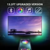 "13.2Ft TV Backlights USB Light Strip Kit for 55""-70"" TV, Mirror, PC, APP Control Sync to Music, Bias Lighting, 5050 RGB Water"