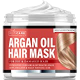 Argan Oil Hair Mask - Deep Conditioner for Dry Damaged Hair, Color Treated & Bleached Hair - Made in USA - Hydrating Argan Oi
