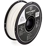 HATCHBOX ABS 3D Printer Filament, Dimensional Accuracy +/- 0.03 mm, 1 kg Spool, 1.75 mm, White, Model Number: 3D ABS-1KG1.75-